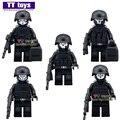 Servicios de Guardia 5 unids/lote Serie Militar Swat Ejército Gun Armas de Ladrillo para La Policía de Mini Muñecas Bloques de Construcción Para Niños Regalos de Navidad juguete