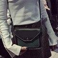 Простой плеча сумки Одной Обложкой 2017 Новый Посланник Хит цвет Ретро блокировки небольшой площади сумка Искусственного Замша Леди сумки
