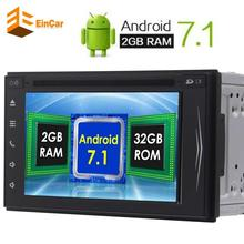 Android 7.1 Head Unit 2Din Car Stereo GPS Navigation Autoradio FM/AM RDS Receiver Support Bluetooth AUX 3G/4G WIFI Free camera