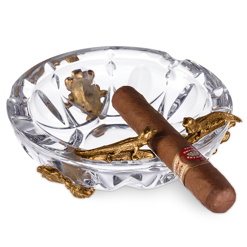 crystal cigar ashtray bronze carving decoration gift boxes CE-1201