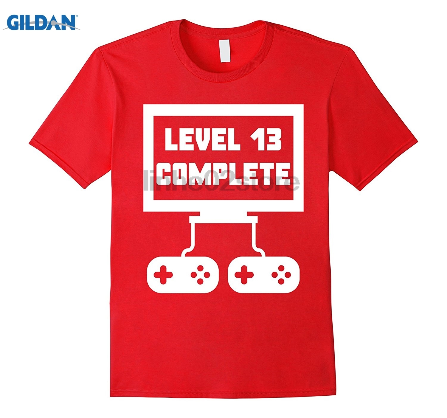 GILDAN Level 13 Complete Video Games Funny 13th Birthday T-Shirt sunglasses women T-shir ...