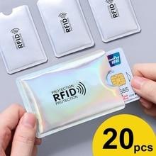 Анти Rfid держатель для карт NFC Блокировка ридер замок Id банк держатель для карт чехол Защита металлический чехол для кредитных карт Алюминий F051