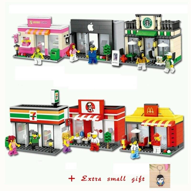 Mini Stadtstraße Bausteine Straße Blöcke Sets Kompatible Mit LegoING Stadt Straßen Szene Architektur Baustein Spielzeug