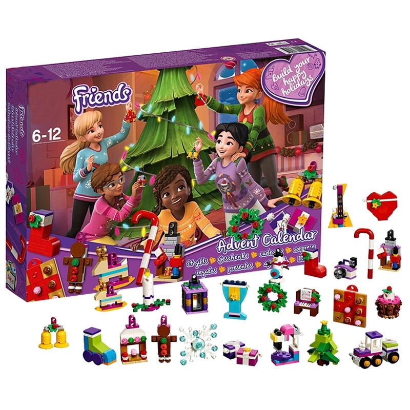 Friends Advent Calendar With Christmas Ornament Calendar Brick Toys Girls Xmas Gift Same 41353-In Blocks From Toys  Hobbies On Aliexpresscom -8996