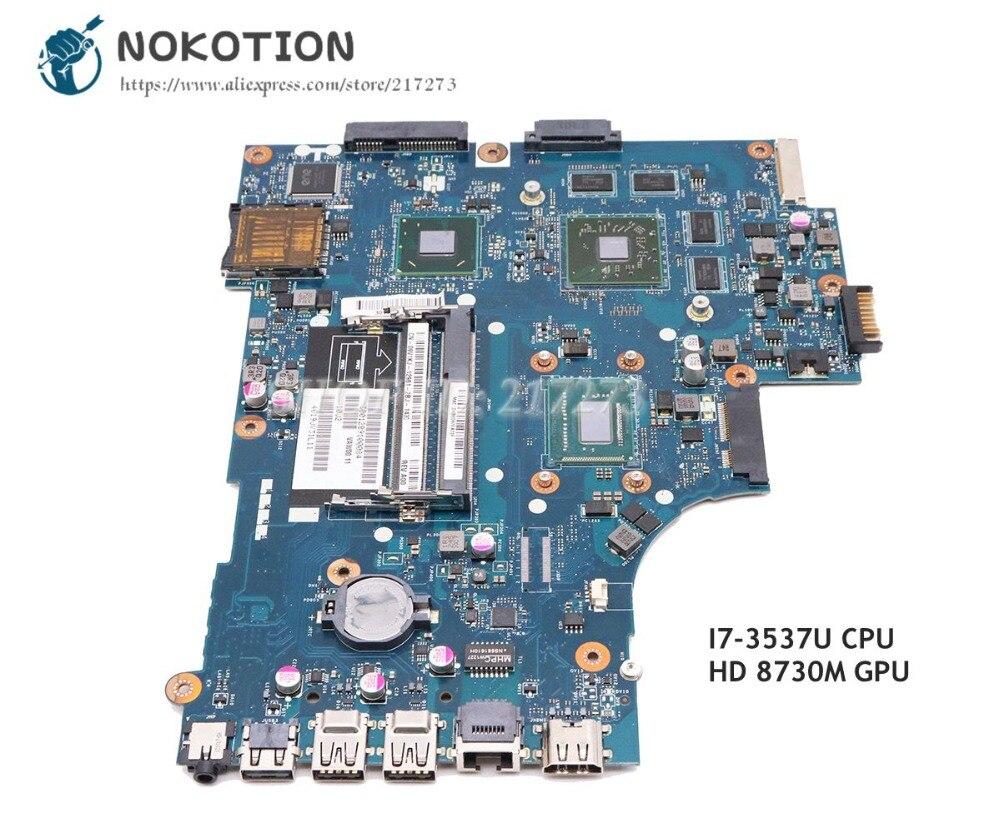 NOKOTION для Dell Inspiron 3521 5521 Материнская плата ноутбука CN 00P55V 00P55V VAW01 LA 9101P SR0XG I7 3537U HD 8730 м GPU