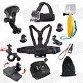 Kit acessórios flutuador vara no peito para gopro hero 5/4/3 +/3/2/1 dbpower 12mp/ex5000 wifi sjcam sj6000 14mp akaso ek5000 ek7000