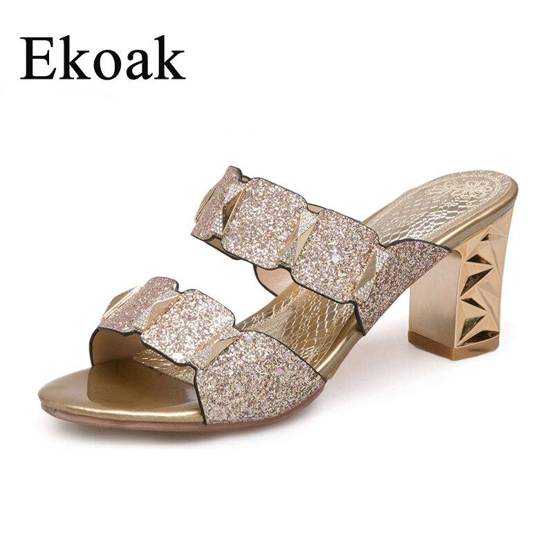 Ekoak/Новая Летняя женская обувь, пикантные шикарные женские сандалии, модная обувь для вечеринок, женская обувь на высоком каблуке