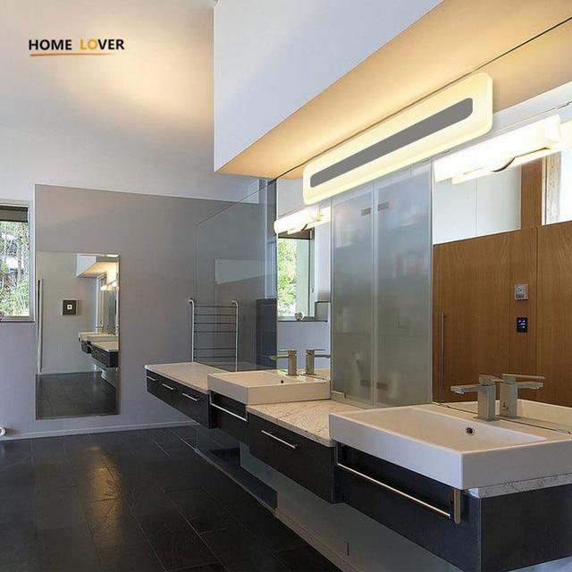 Moderno cuarto de baño/wc LED frontal luces de espejo de baño espejo ...