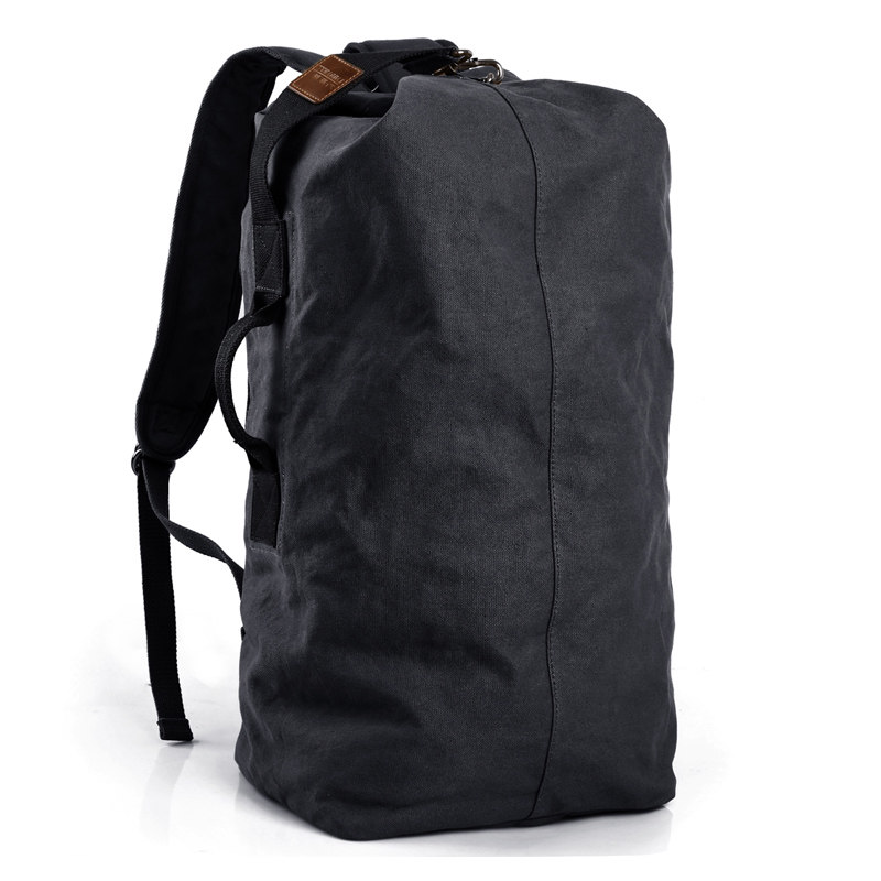 Edgy Trendy Casual  Large capacity man travel bag mountaineering canvas backpack men bags canvas bucket shoulder bag