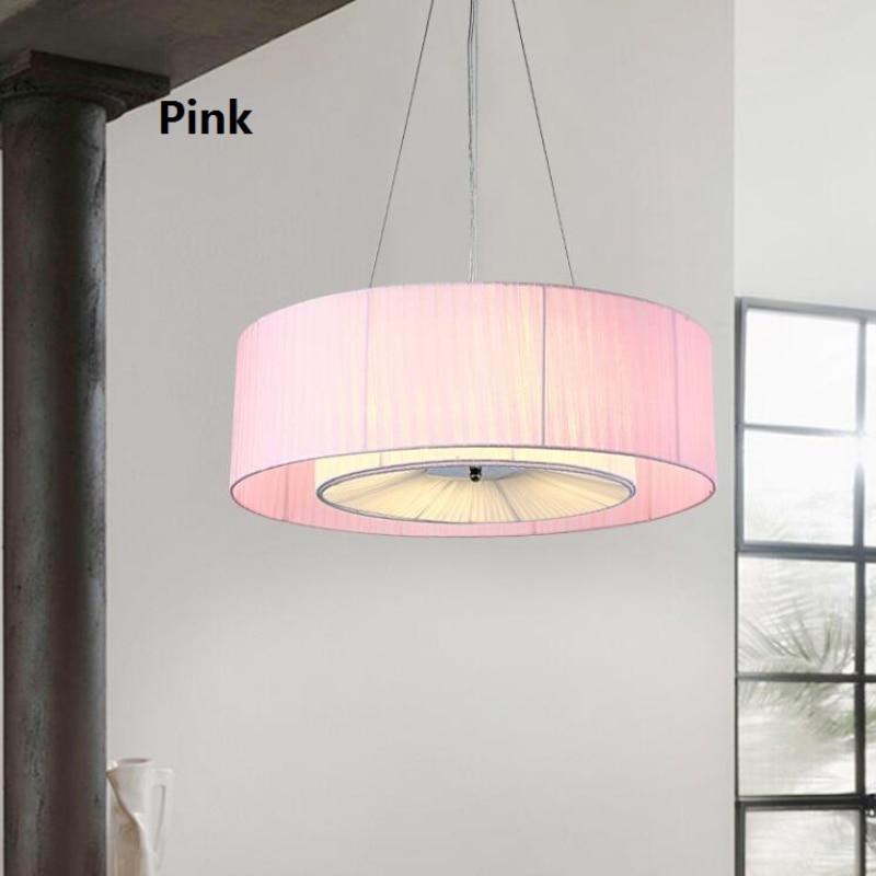 Schon Moderne Einfache Stoffschirm Trommel Kronleuchter Licht Nordic Loft  Hanglamp Restaurant Schlafzimmer Beleuchtung Leuchten Suspendus  110 240V L141