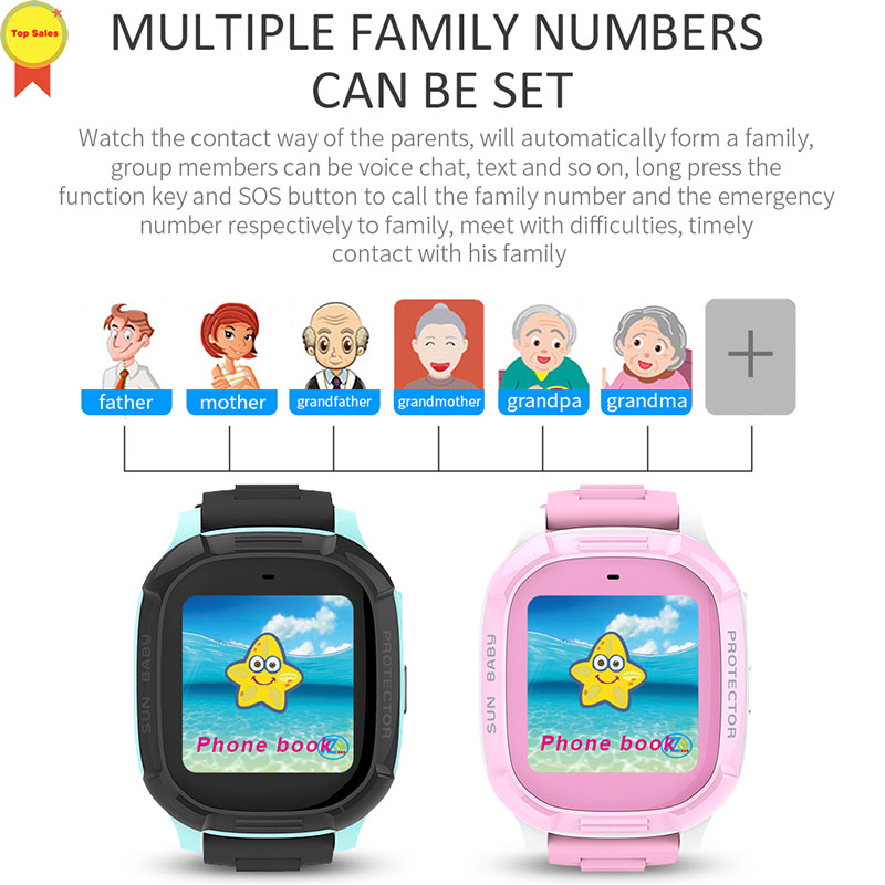 children watch smart E-fence GPS positioning IP67 waterproof 1.4 touch screen 420mAh battery kid PK Q90 Q100