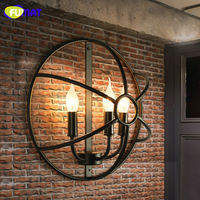 FUMAT Loft Wall Lamps American Country Retro Lamp Industiral Aisle Lighting Wall Lights Iron Sconce for Bar Vintage Wall Lamp
