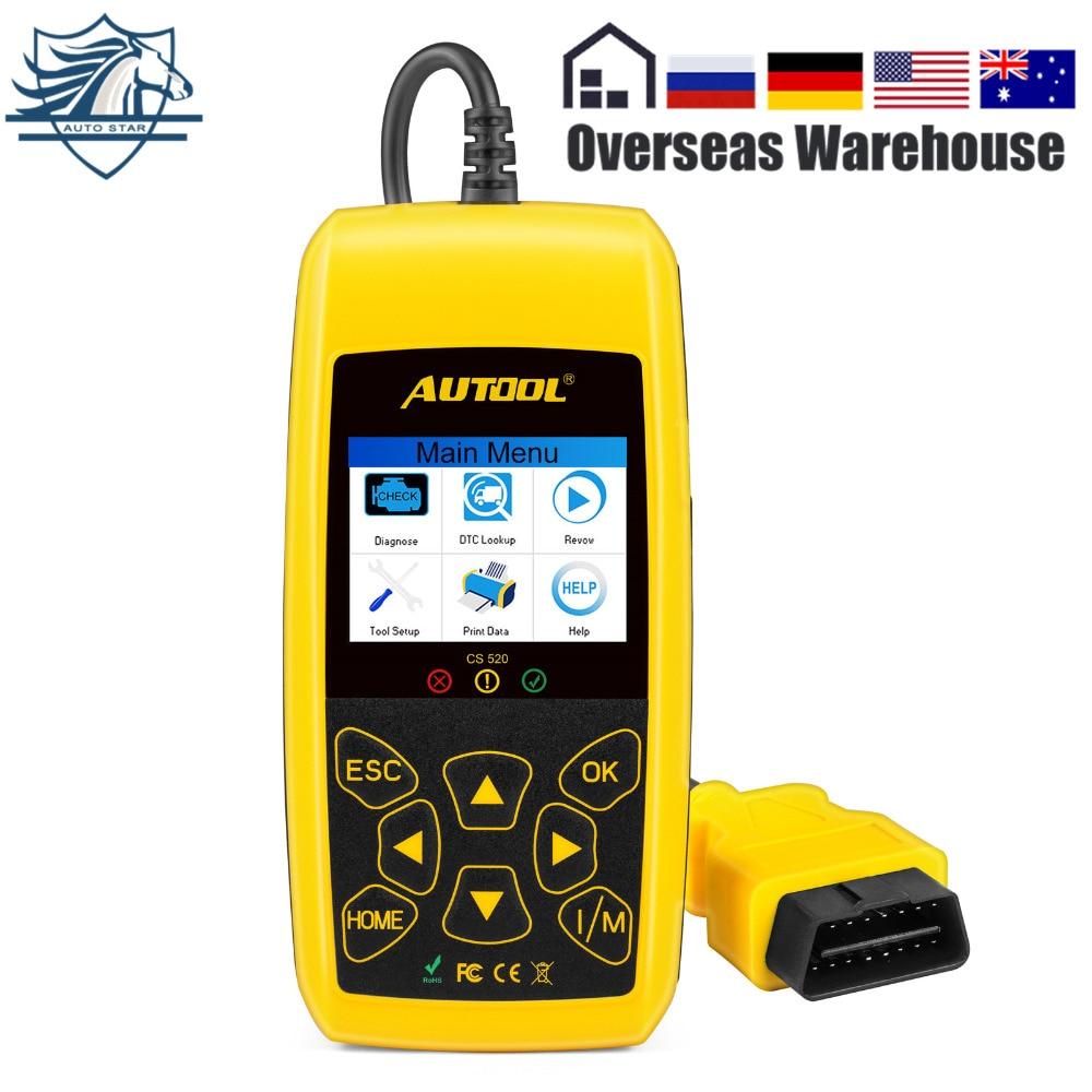 AUTOOL CS520 OBD2 EOBD CAN BUS Code Reader Live Data Automotive Fault Code Scanner Car Diagnostics Scan Tool