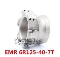 Emrw 6r125-40 face end fresa de corte liso indexável para perfil plano de corte  fresa cnc