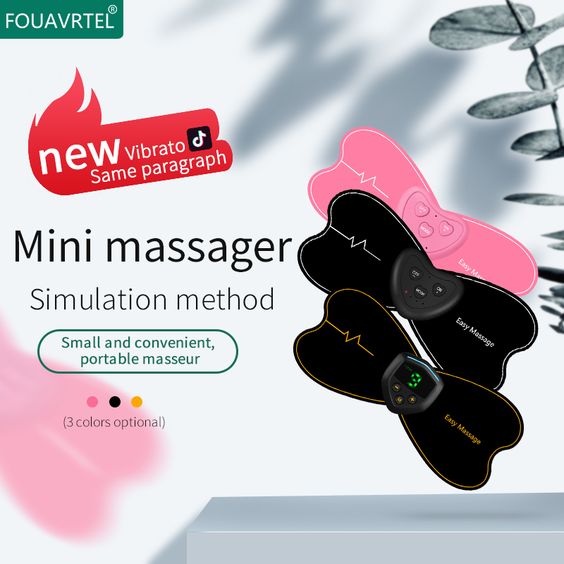 FOUAVRTEL New Style Neck Massager Wireless Muscle Stimulator USB Rechageable Back&Neck Relaxing Device