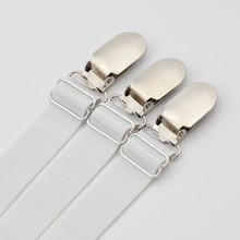 Metallic Silver Style Garter Belt