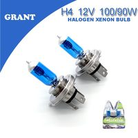 High Power GRANT H4 Xenon Halogen Bulbs 100 90W 5000K Bright White DC12V Universal Headlight Replacement