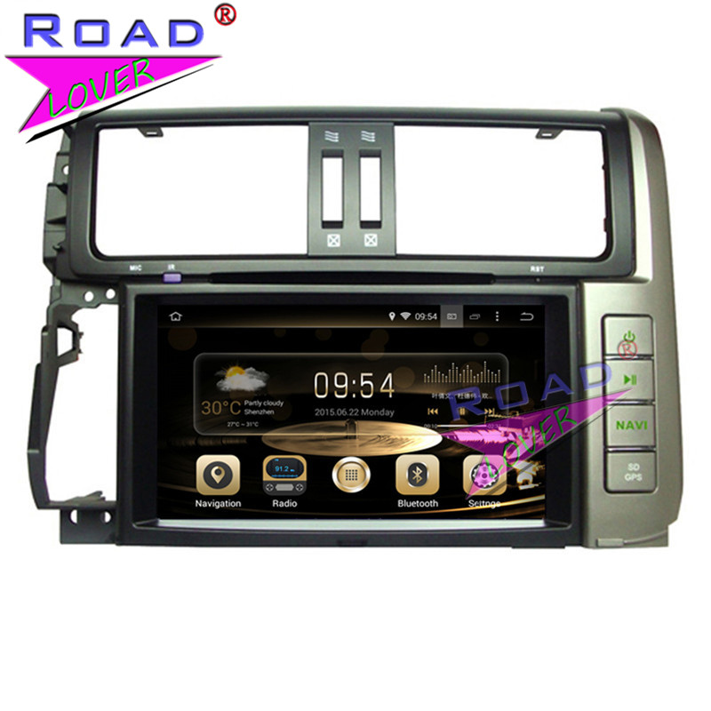 TOPNAVI Octa Core 4G+32GB Android 6.0 Car Media Center DVD Player Auto Radio For Toyota Prado 2010- Stereo GPS Navi Double Din