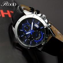 Mens relojes de primeras marcas de lujo de cuarzo reloj Masculino Luminosa Resistente Al Agua Fecha Reloj de Cuero Reloj de Pulsera de Moda Casual de Negocios