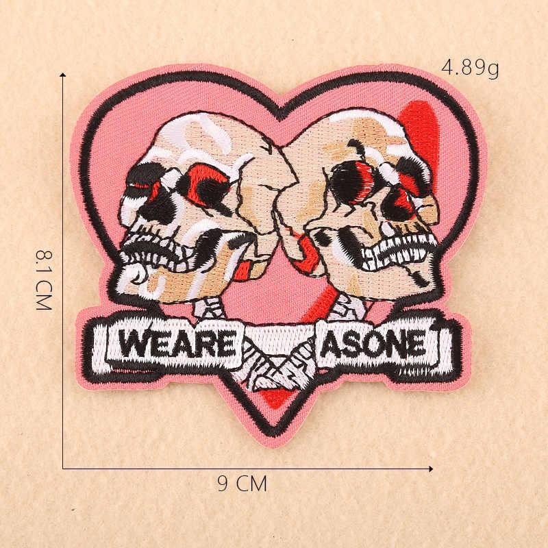 1 PCS Amore Del Cranio Carattere Batman Toppe e Stemmi Ferro sul Strisce per Distintivi e Simboli Occhio Adesivi sui Vestiti Lettera Del Ricamo Punk Appliques