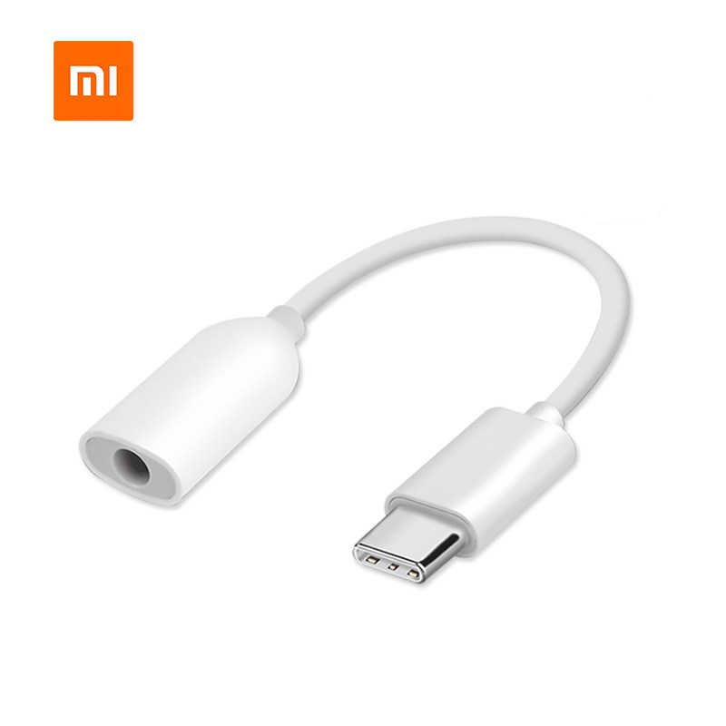 Original usb type c to 3.5mm headphone jack adapter aux audio converter cable for xiaomi mi 9 8 6 5 mix 2 max 3 redmi note 7 3
