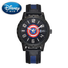 2017 Disney Kids Watch Marvel Super Hero Fashion Simple Cool Wristwatches Boys Mickey Mouse Gift Waterproof for Children Leather