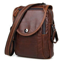Crossbody Bag For Men Messenger Bags Cow Leather Brown Business Travel Small Mini Vintage Brand Casual Flap Shoulder Bags Male motorcycle bags full grain cow leather shoulder bags men messenger bag retro vintage crossbody bags