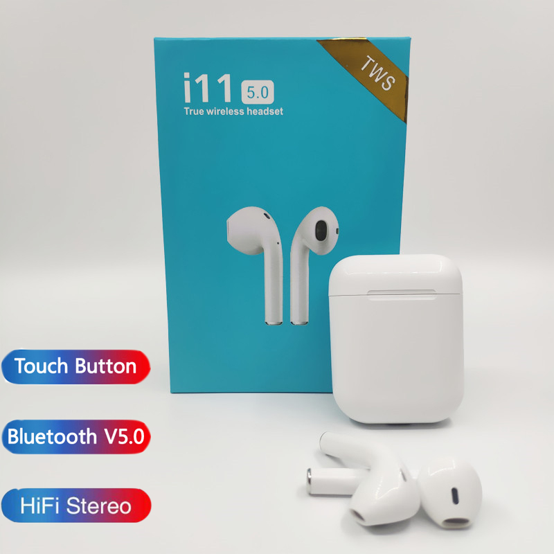 i11 i7s tws Air Wireless Bluetooth Earphones Hifi Stereo Headsets Earbuds Bluetooth 5.0 For xiaomi iPhone Android Pods