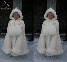 Bealegantom зимняя куртка накидка с цветочным узором для девочек