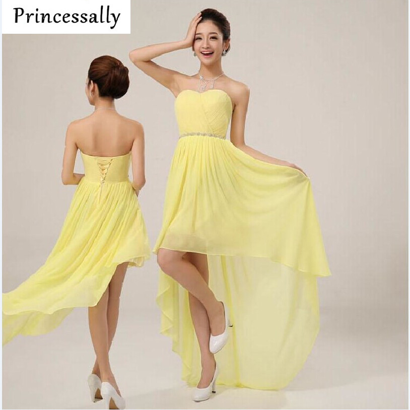 Dark Yellow Chiffon Bridesmaid Dresses