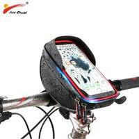 Waterproof Bike Bag Holder for Your Mobile Phone TPU Touch Screen Phone Mount On MTB Handlebar Cycling Bag Bisiklet Aksesuar