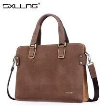 Sxllns Handbag Men Shoulder Bags Brand Briefcases Tote Bag Business Men's Messenger Bag Casual Vintage Travel Bag Free Shipping