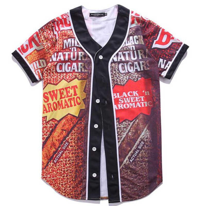HZYEYO 만화 t-셔츠 남성 여성 Unisex 힙합 짧은 소매 3D 인쇄 야구 저지 티 셔츠 거리 착용 여름 탑스