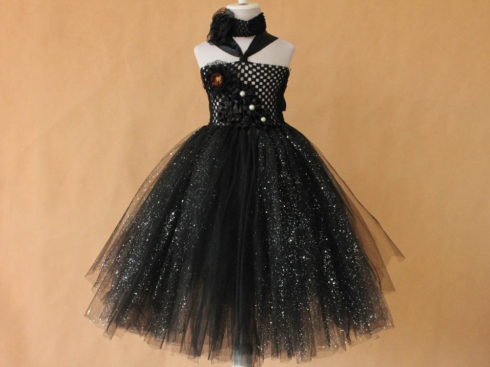 black sequin fluflly Blue Girl Pageant Dress Girls Toddler Tutu Dress Baby Infant Newborn Birthday Party