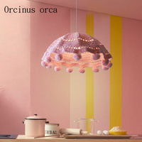 Nordic Modern Simplified HANDMADE KNITTED Chandeliers For Male And Female Bedroom Children Room Warm Wool Knitted