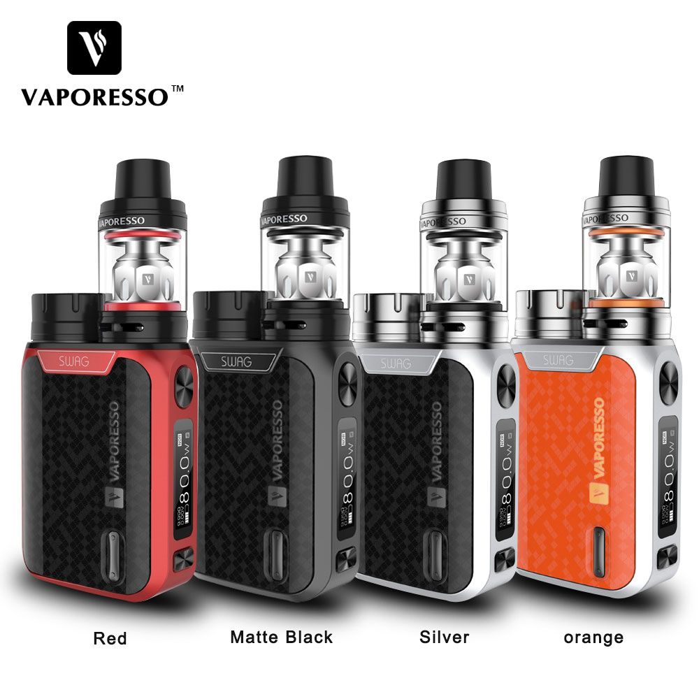Original Vaporesso SWAG Kit 80W SWAG Box Mod with NRG SE Tank (3.5ml)/Mini (2ml) Tank E-Cigarettes Vape Kit No 18650 Battery цена