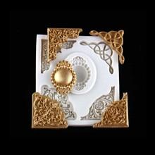 Европейский кружева тиснением силиконовые формы DIY помадка торт плесень, помадка форма для шоколадного мыла, декоративный противень M173