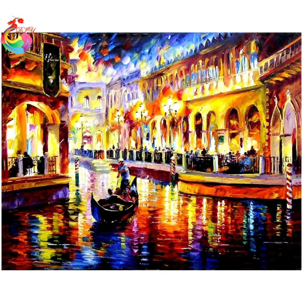 2e34db6cf Imagem De Mosaico De Diamante do Ponto da Cruz de Cristal Cubo de rubik  Cheia de Diamantes Unfinish Decorativa Diamante Bordados Paisagem de Veneza