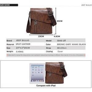 Image 2 - Jeepbuluo 브랜드 패션 남자 가방 방수 분할 가죽 crossbody 가방 비즈니스 서류 가방 메신저 가방 남성 숄더 백 5846