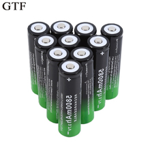 GTF 10pcs 3.7V 5800Mah 18650 Li-ion Battery Rechargeable Lithium Batteries For Flashlight Torch Clock Accumulators 18650 Battery цена и фото