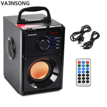 2500mAh 2.1Stereo Wooden Subwoofer Bluetooth Speaker FM Radio Portable Speakers Mp3 Play Super Bass Loudspeaker computer Column(China)