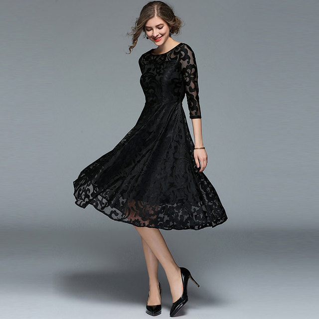 #Spring #Fashion Slim #Ladies Party #Dress #Women Casual Lace Dresses #boygrl 3