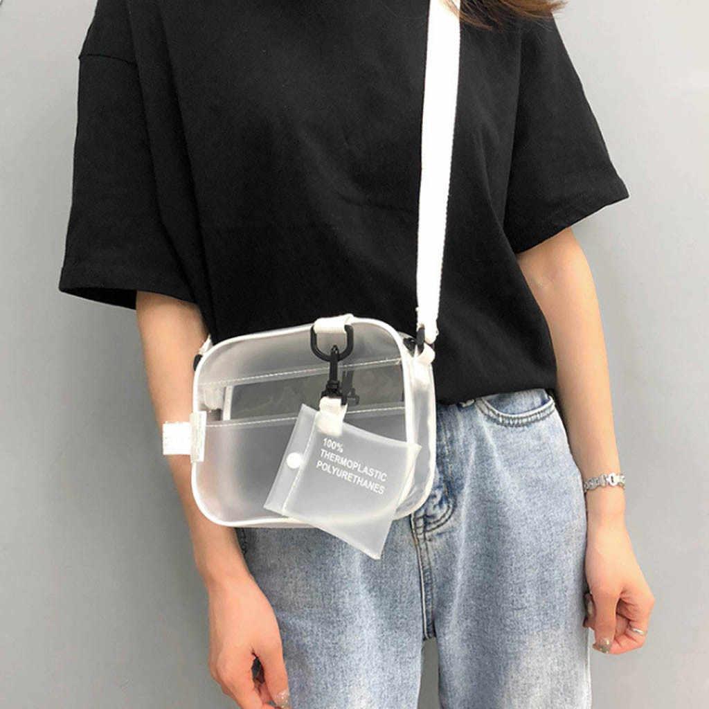 2 шт милый белый Желейный пакет прозрачная сумка для писем Спортивная тренировочная сумка ПВХ сумка для отдыха J12