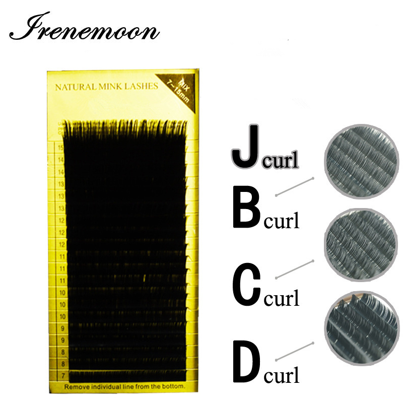 1st Eyelash Extension False Eyelash B / C / D / J Curl Mix Längd - Smink - Foto 1