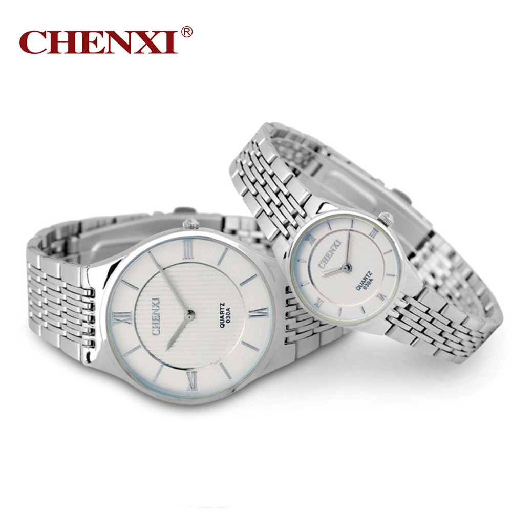 Men's Women's Couple Wrist Watch Quartz Hours Business Thin Fashion Dress Chain Bracelet Lovers Girl Boy Christmas Birthday Gift