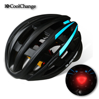 2017 CoolChange Bike Helmet Light MTB Helmet Back Light Bicycle Men Women 27 Air Vents Integrally