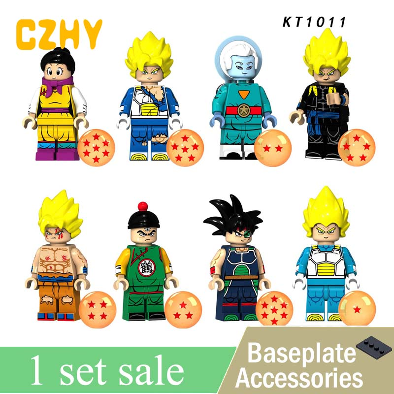 New KT1011 Dragon Ball Z Figures Goku Son Gohan Raditz Lieutenant Arnold Bricks Building Blocks Toys Christmas Gifts