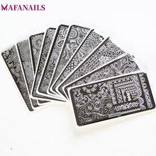 20Pcs/Lot Rectangle Nail Art Stamping Plates Sets 6.5*12.5 cm Manicure Lace FlowersTemplate Plates with white Pads #SPV001-020# 20pcs lot tja1020t cm sop