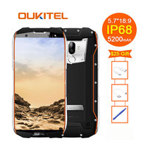 Oukitel Wp5000 Ip68 Seal 6 Gb 64 Gb 5200 Mah 5.7 18: 9 Display Android 7.1 Helio P25 Octa Core 4g Prints 9 V / 2 Smartphone