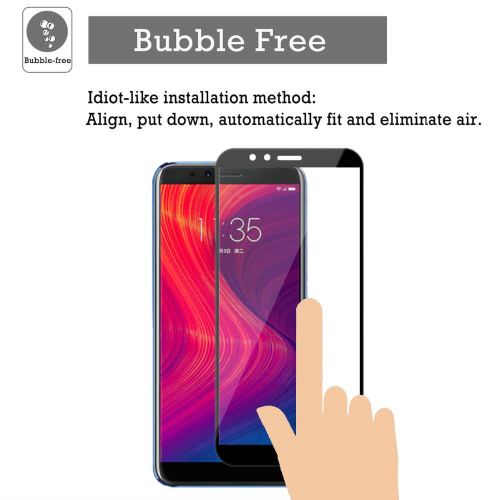 9H 2 5D Full Cover Screen Protectors For Lenovo K5 play Tempered Glass For Lenovo K5 play 2018 Protective Film in Phone Screen Protectors from Cellphones Telecommunications